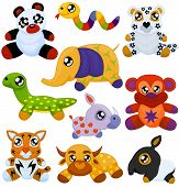 picture of tapir  - Set of asian toy animals  - JPG