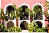 stock photo of playa del carmen  - Beautiful old Spanish hacienda near Playa del Carmen Mexico - JPG