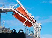 picture of life-boat  - orange free - JPG