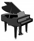 stock photo of grand piano  - a vector image of a grand piano - JPG