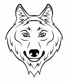 picture of silkscreening  - Wolf Editable Vector Art and Illustration Design - JPG