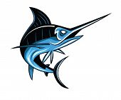 stock photo of swordfish  - Marlin Fish Editable  - JPG