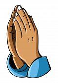 stock photo of prayer  - hand prayer Editable  - JPG