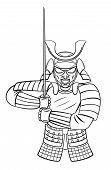 stock photo of shogun  - Samurai Warrior Editable  - JPG