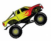 foto of monster-truck  - Truck Race Editable  - JPG