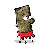 image of grossed out  - gross severed head cartoon - JPG