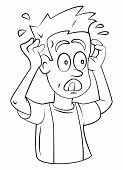picture of nervous breakdown  - Stressed Editable  - JPG