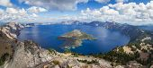 foto of angle  - wide angle view of Crater Lake form the top of Watchman - JPG