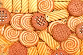 picture of shortbread  - Pastry shortbread biscuits and cookies background texture - JPG