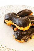 stock photo of eclairs  - Chocolate Eclair - JPG