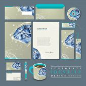 stock photo of priceless  - modern design for corporate identity set with diamond element - JPG