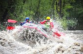 picture of raft  - White water rafting at river class 5 - JPG