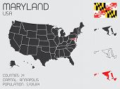 image of maryland  - A Set of Infographic Elements for the State of Maryland - JPG