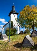 pic of templar  - Templar church at village Martincek  - JPG