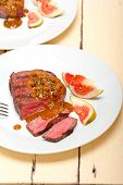 stock photo of ou  - beef filet mignon with green peppercorn creamy sauce ou poivre vert - JPG