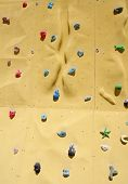 pic of rabbit hole  - Colorful climbing holds on an artificial climbing wall - JPG