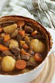 image of rutabaga  - Stew a traditional dish containing meat gravy and vegetables - JPG