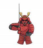 foto of shogun  - Samurai Warrior Editable  - JPG