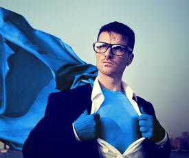 image of transformation  - Strong Superhero Businessman Transforming Concepts - JPG