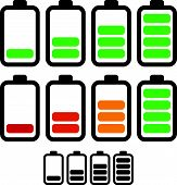 picture of accumulative  - Illustration of battery level indicators - JPG