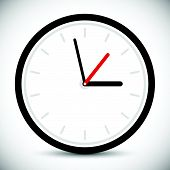 pic of analogy  - Wall clock icon - JPG