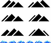 image of apex  - Eps 10 vector Illustrations of Peak mountain pictogramms - JPG