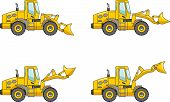 stock photo of wheel loader  - Detailed illustration of wheel loaders heavy equipment and machinery - JPG