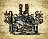 image of time machine  - Nostalgic time machine arrived in the future - JPG