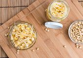 foto of soybean sprouts  - Preserved Soy Sprouts  - JPG