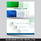 image of visitation  - Business card template or visiting card set with square pattern - JPG