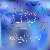 foto of blue angels  - Christmas Card with Angel - JPG