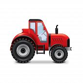 foto of tractor  - Tractor isolated on white photo - JPG