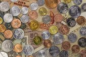 image of shilling  - A collection of coins and notes from around the world - JPG