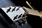 pic of fret  - Details of acoustic black guitar - JPG