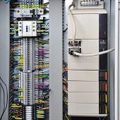 foto of fuse-box  - Electronics control systems in box in industry - JPG
