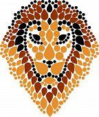 stock photo of lions-head  - lion head illustration vector geometric elements art - JPG