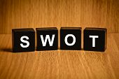 stock photo of swot analysis  - SWOT or strengths weaknesses opportunities and threats - JPG