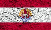 pic of french polynesia  - Flag of french polynesia with old texture - JPG