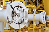 foto of gas-pipes  - Pig luncher in oil and gas industry - JPG
