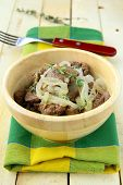 picture of liver fry  - Fried chicken liver with onions and thyme