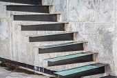 stock photo of stairway  - Metal Stairway - JPG