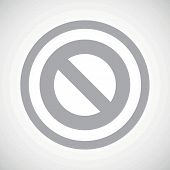 foto of taboo  - Grey image of NO sign in circle - JPG