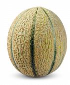 image of cantaloupe  - Cantaloupe Melon Fruit isolated on white background - JPG