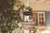 pic of guest-house  - Capture of Welcome sign at beautiful house - JPG