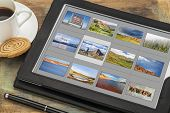 image of grids  - reviewing image library  - JPG