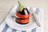 picture of tomato plant  - Freshly cut egg - JPG