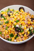image of sweet-corn  - Tuna salad with sweet corn and black olives  - JPG