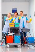 stock photo of work crew  - Cleaning service at work - JPG