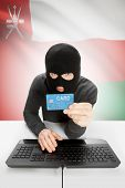 pic of oman  - Cybercrime concept with flag on background  - JPG