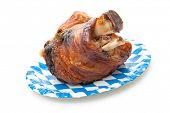 stock photo of roasted pork  - Roasted Schweinshaxe  - JPG